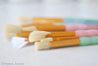 Pastel brushes