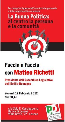 """""""FACCIA A FACCIA CON MATTEO RICHETTI"""""""