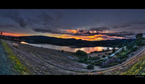sf california blue sunset panorama orange lake mountains reflection water northerncalifornia landscape san fav50 andreas fav20 explore norcal fav30 hdr highdynamicrange gettyimages 1000v fav10 photomatix tonemapping explored fav40 hdrpanorama borderfx elmofoto lorenzomontezemolo
