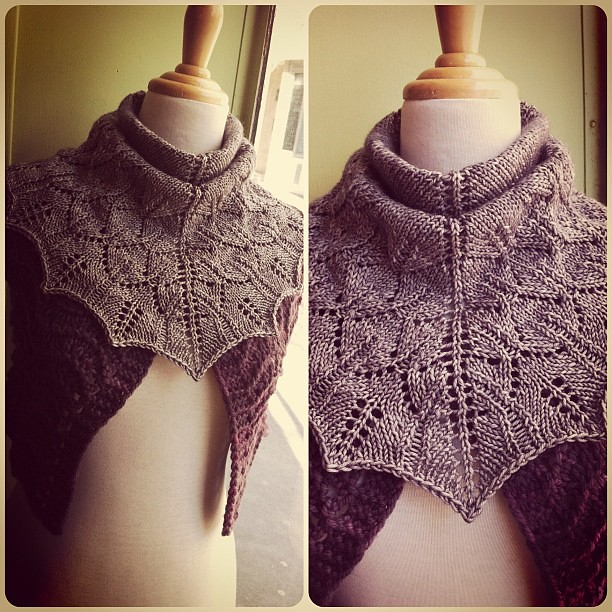 Great one skein project! Yarn: Madeline Tosh DK. Pattern: ZuZu's Petals. Come see our projects at @aiguillenfete! #instagram #knitting #yarn #aef