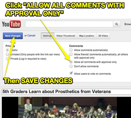Allow YouTube Comments with Approval Only