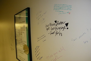 244/365/1339 (February 10, 2012) – Signing the Wall in the Kresge Library Offices (Ross School of Business, University of Michigan)