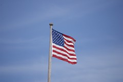 US Flag, stern flag pole, USS Hornet, CVS-12 DSC_0333