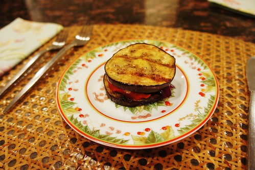 "At Home:  Grilled Eggplant ""Sandwich"""
