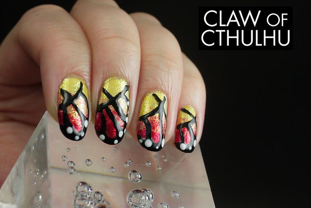 Monarch Butterfly Wing Nail Art