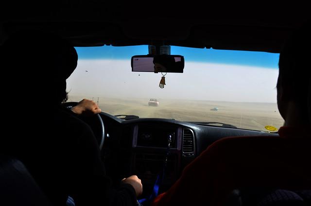 Atravesando en 4x4 la tormenta de arena por Marruecos