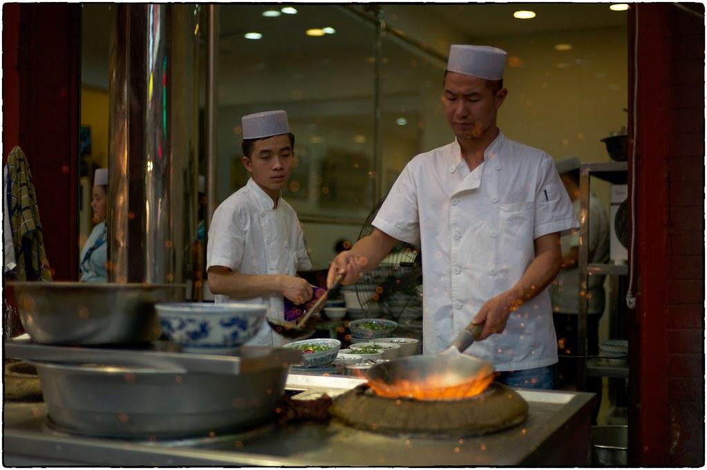Cinders, Fire And Wok, Muslim Quarter, Xi'an, May 19, 2016