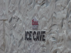 Cools Light Ice Cave - Centenary Square - sign