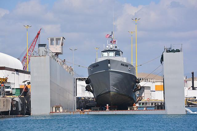 Malama in dry dock