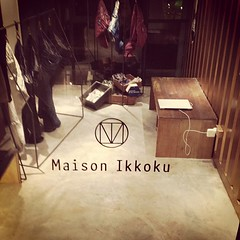 Discovery at Kandahar Street: Maison Ikkoku is a multi-label concept store with a cafe at 1st, men's wear at 2nd, and cocktail bar at 3rd floor. Clean as in typically minimalist Japanese, this store stands out with a tall white exterior and deceptively s