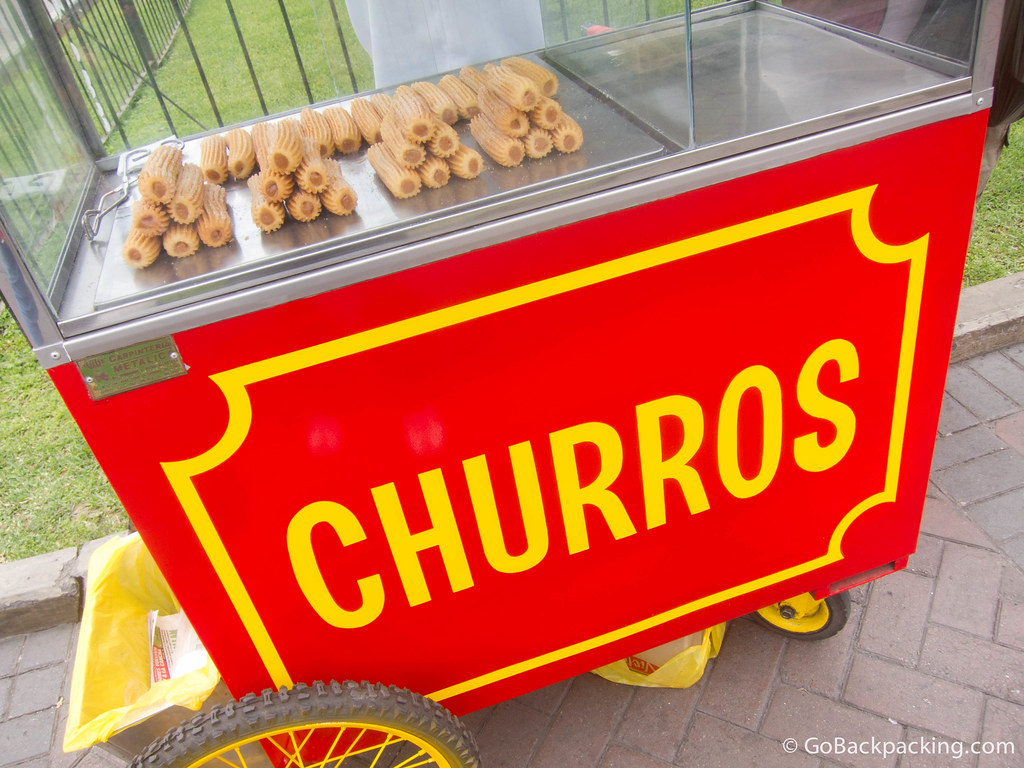 Churros for sale in Parque Kennedy - Lima, Peru