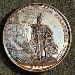 1717 Medal Athena and King Louis XV