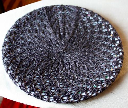 Soft Linen Lace Beret
