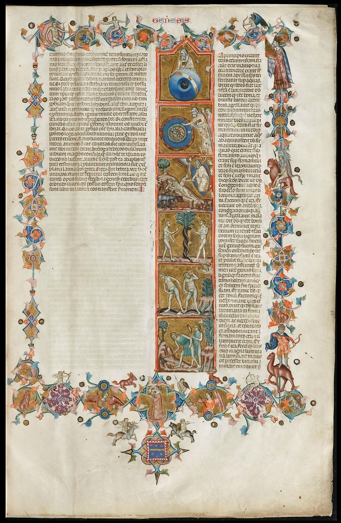 Anjou Bible - illuminated manuscript parchment