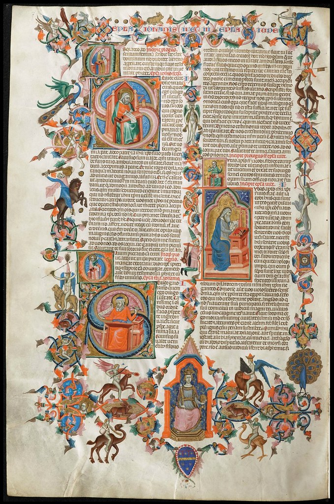 illuminated bible manuscript page