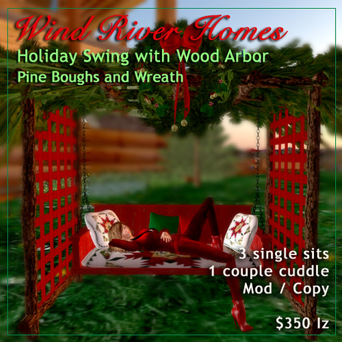 Holiday Swing from Wind River Furniture by Teal Freenote