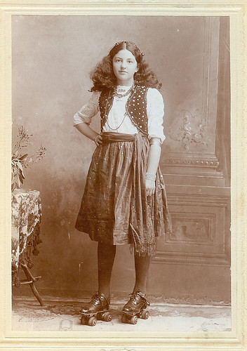 Charming girl on skates circa 1910 by Kingkongphoto & celebrity photos