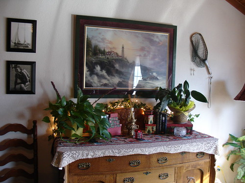 Buffet in Family Room - Christmas