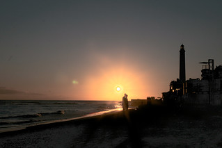 תמונה של Playa de Maspalomas. ocean autumn sunset lighthouse beach grancanaria spain hdr maspalomas