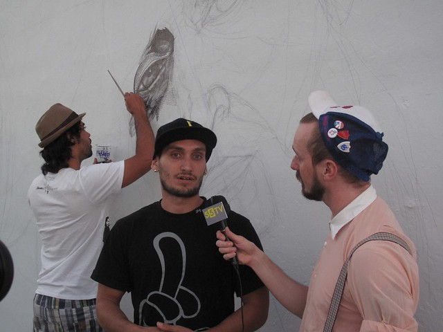 La Pandilla - Street artist - WYNWOOD WALLS - Art Basel Miami Beach - 55tv interview