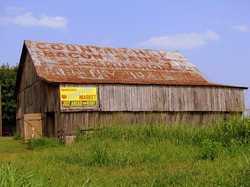 Country Hams advertising barn