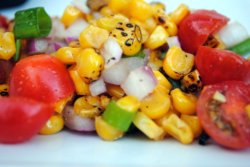 Roasted Corn and Tomato Salad