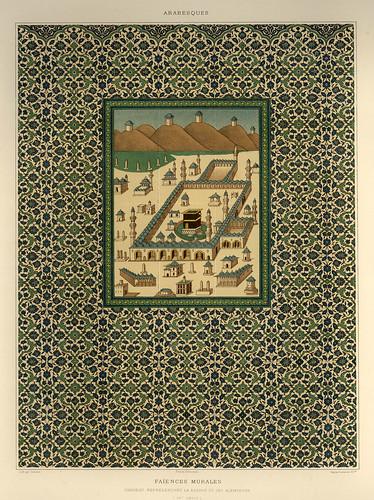 011-Mural de loza esmaltada siglo XVI-L'art arabe d'apres les monuments du Kaire…Vol 2-1877- Achille Prisse d'Avennes y otros.