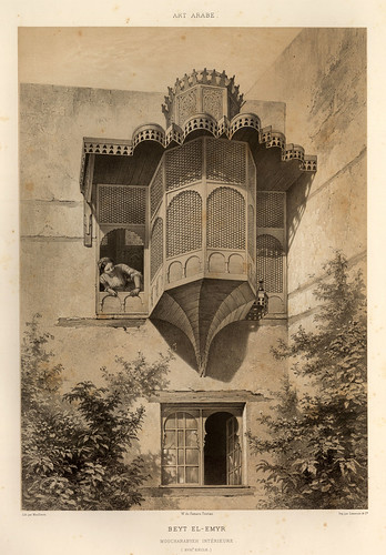 012-Interior de Beyt-El-Emir siglo XVIII-L'art arabe d'apres les monuments du Kaire…Vol 3-1877- Achille Prisse d'Avennes y otros.