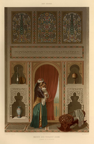 013-Casa de Youçouf Adami-L'art arabe d'apres les monuments du Kaire…Vol 3-1877- Achille Prisse d'Avennes y otros.