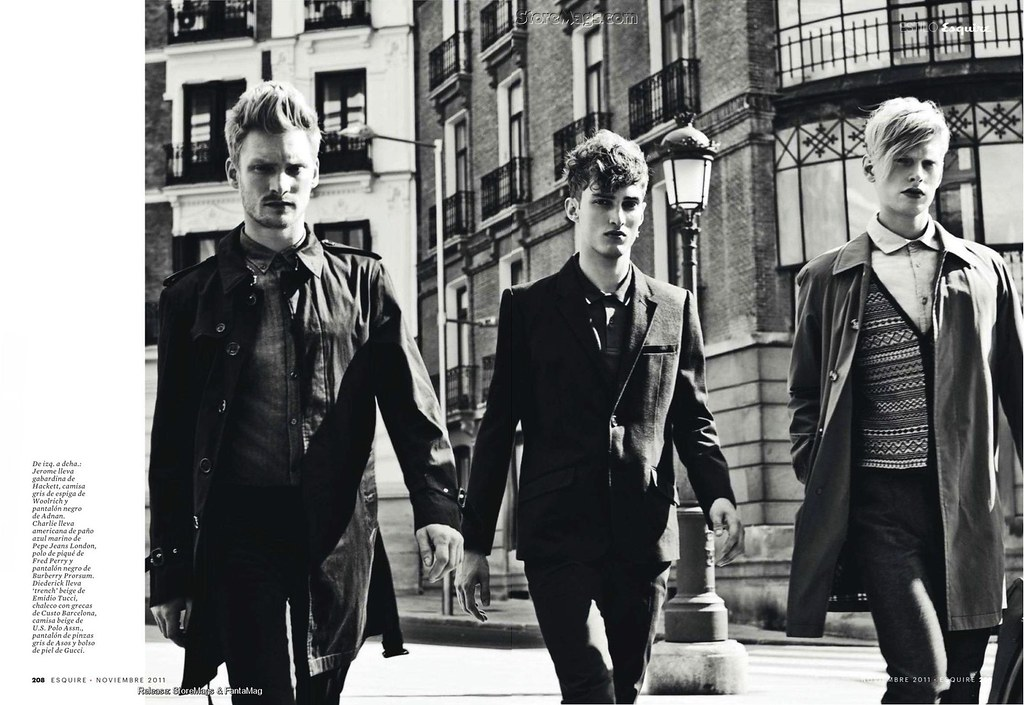 Esquire Spain December 2011_027Charlie France,Jerome Clark,Diederik Van der Lee(Flashbang@TFS)