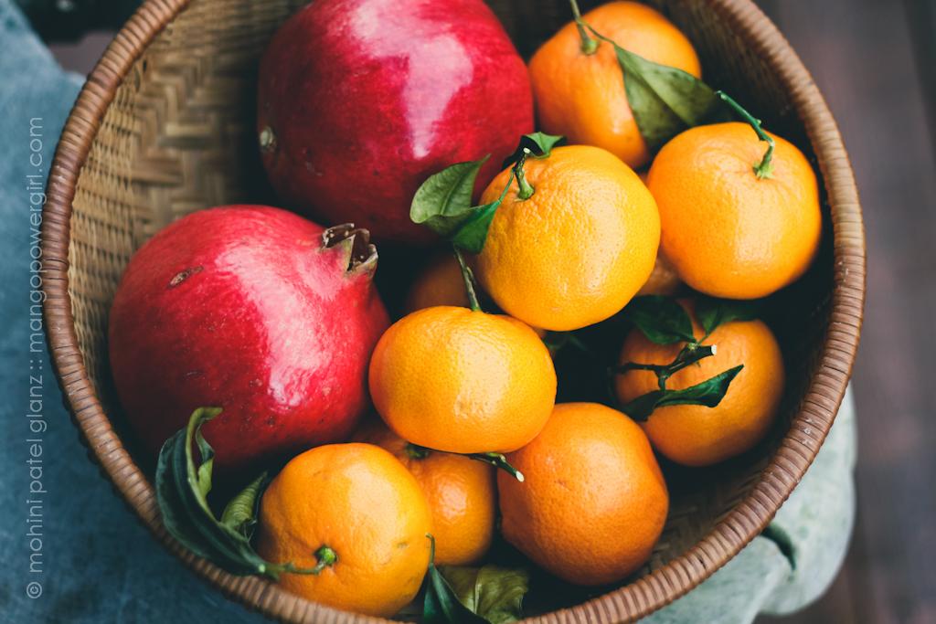 Pomegranate & Satsuma Basket