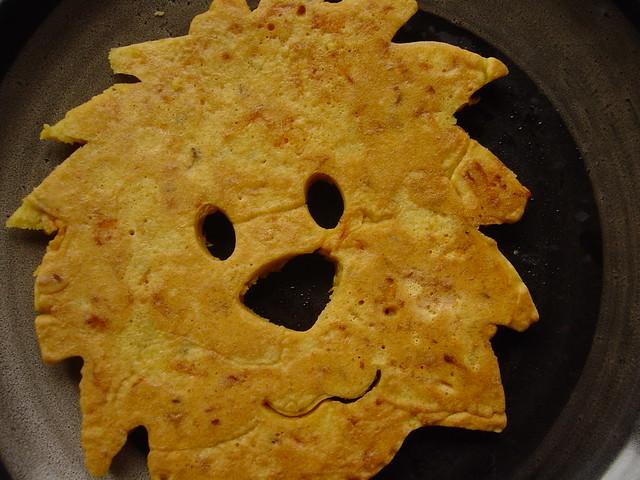savoury pancake lion