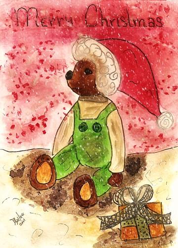 2011 - Christmas Folk Art Bear by BeverlyDiane