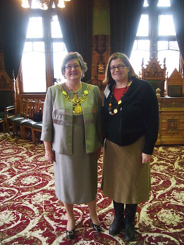 The author with the Lord Mayor of Chester in December 2011