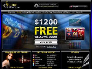 Supro Live Casino Home