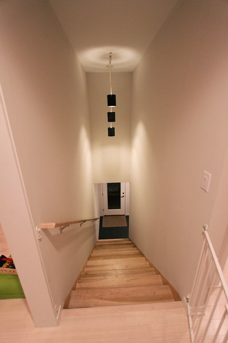 DeBord Residence - Stairs to Lower Level Entry