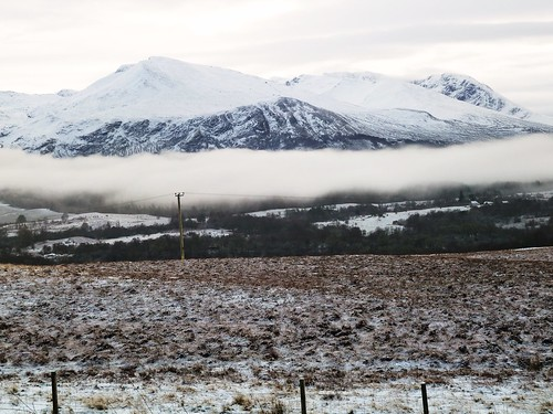 Mountain Scene in Winter, Highlands