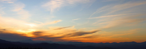sunset panorama landscape northcarolina blueridgeparkway westernnorthcarolina southernappalachians ccbyncsa microsoftice mountjeffersonoverlook canonpowershotsx40hs