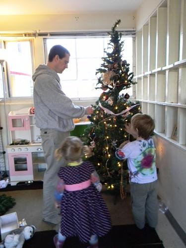 decorating the tree, 2011