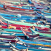 Boats On The Kanyakumari Shore In India by thedot_ru
