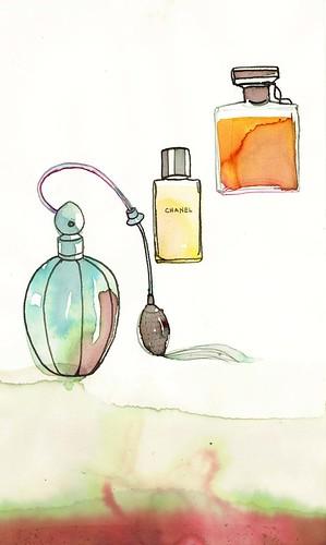 Vintage perfume bottles 2 2011 8.75X5