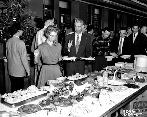 Engineering Department Christmas party, 1957