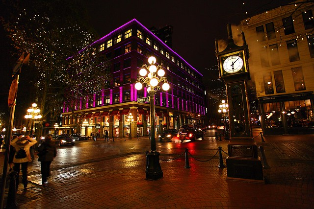 Gastown colours at Christmas