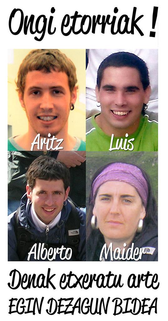 Alberto, Maider, Luis eta Aritz KALERA!