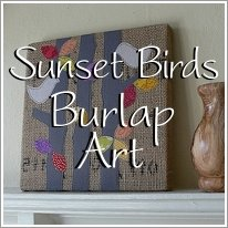 Sunset Bird Burlap Art Tutorial