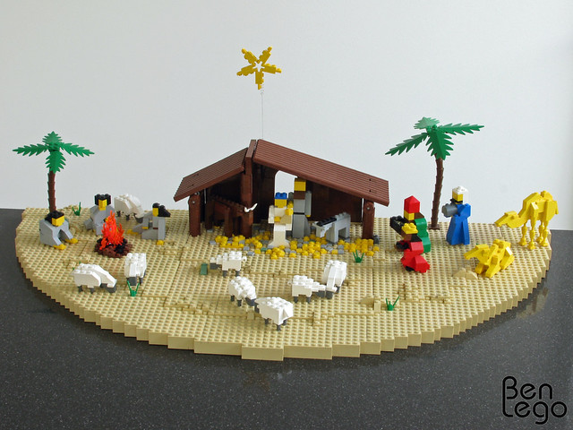 lego nativity my asked me to make a flickr photo