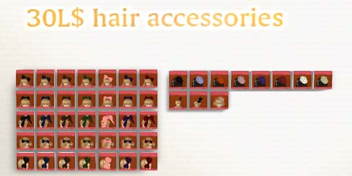 booN 30L$ hair accessories