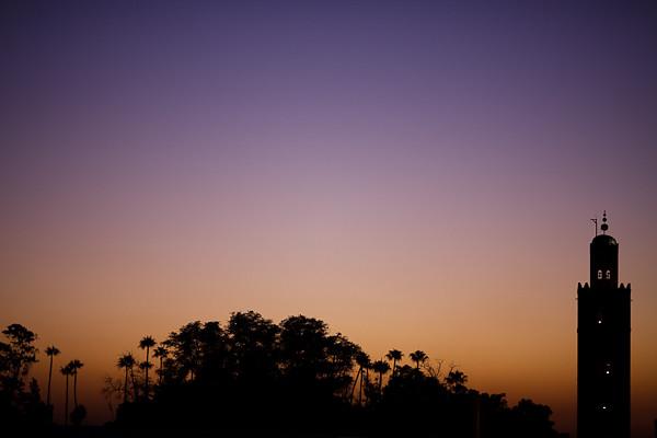 Maroc 2011 - Coucher de soleil sur Marrakech