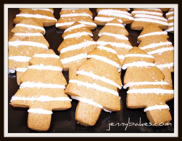 Gingerbread Trees with Lemon Glaze