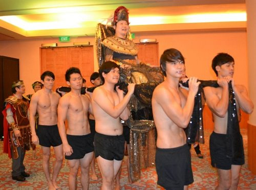 Who needs those A&F models when I can have my own entourage of naked men?